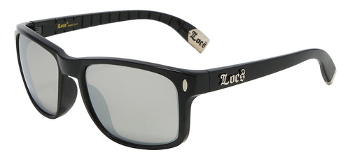 Locs 91045 Black Mirrored | Gangster Sunglasses