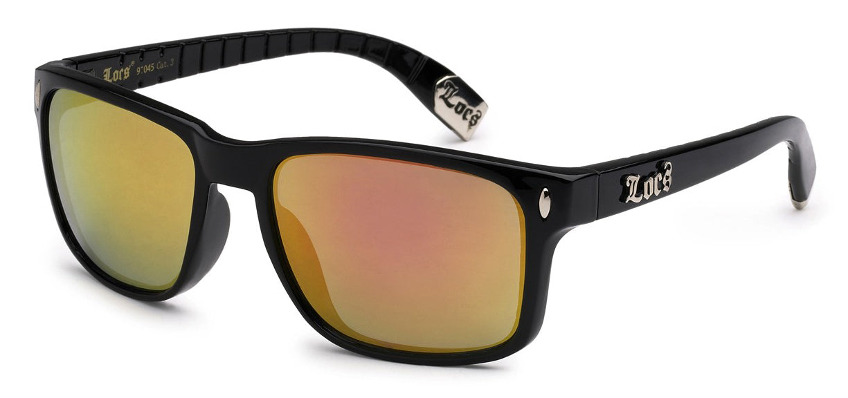 Locs 91045 Yellow Revo | Gangster Sunglasses