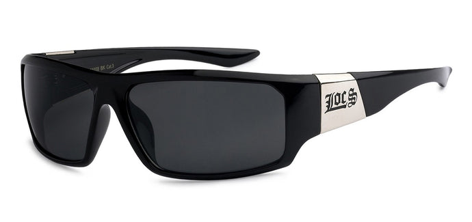 Locs 91058 Black | Gangster Sunglasses