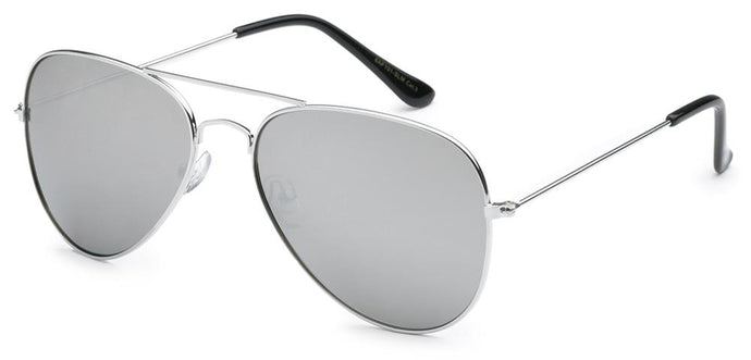 Aviator Silver Mirror Polarized Sunglasses | Classic Sunglasses
