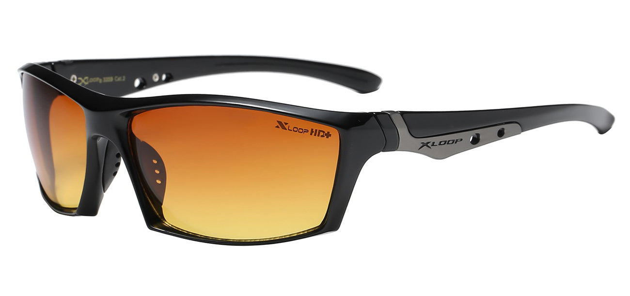 XLoop 3359 Black HD+ | Sport Sunglasses