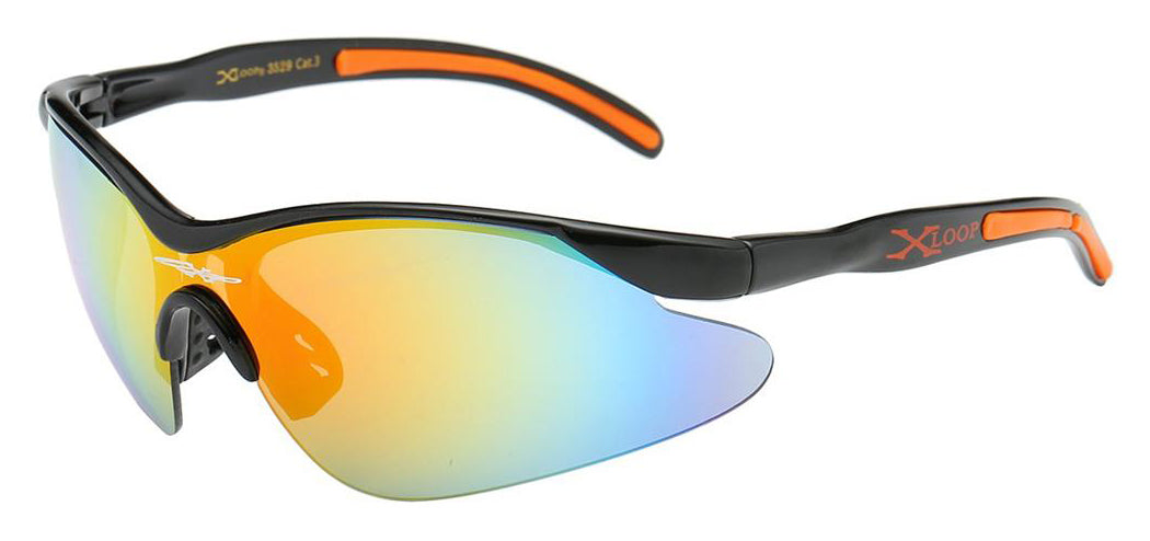 XLoop 3529 Black Orange | Sport Sunglasses