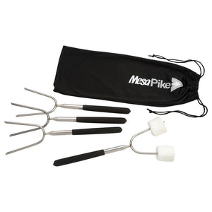 "Extendable 34"" Roasting Sticks with Carrying Case"