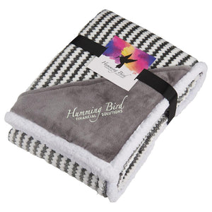 Field & Co.® Chevron Striped Sherpa Blanket w/Card