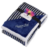 Field & Co. Chevron Striped Sherpa Blanket w/Card