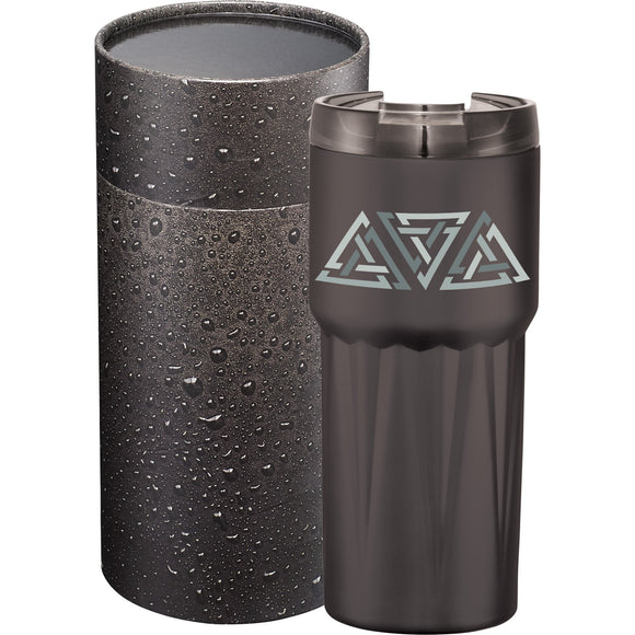 Pyramid Copper Tumbler 20oz With Cylindrical Box