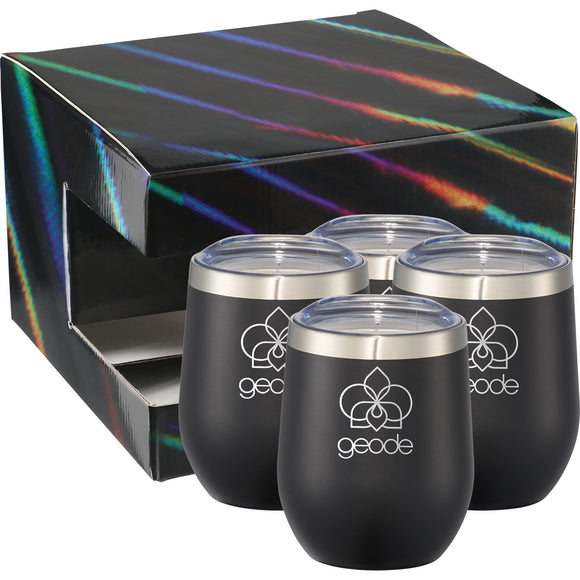 Corzo Cup 12oz 4 in 1 Gift Set