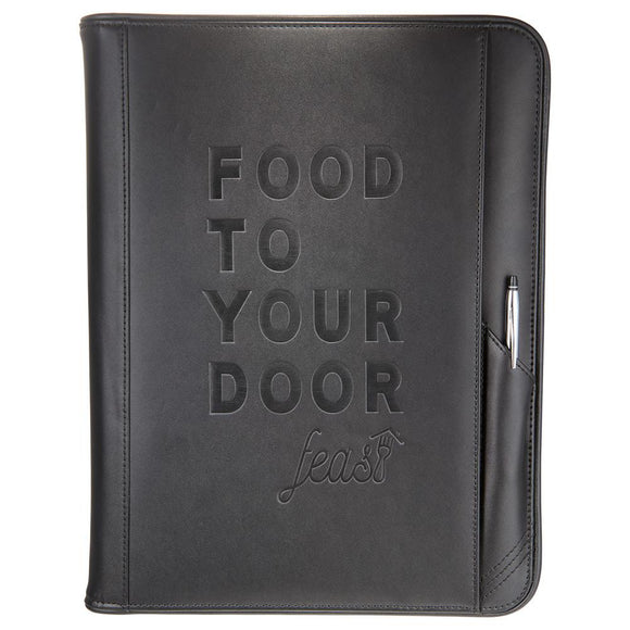 Cross® Classic Leather Zippered Padfolio