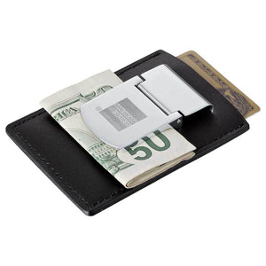 Zippo® Spring Loaded Leather Money Clip
