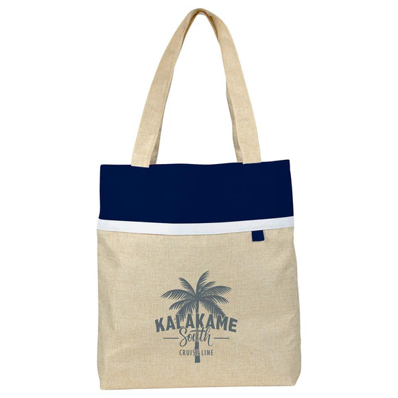 Deluxe Lined Linen Tote