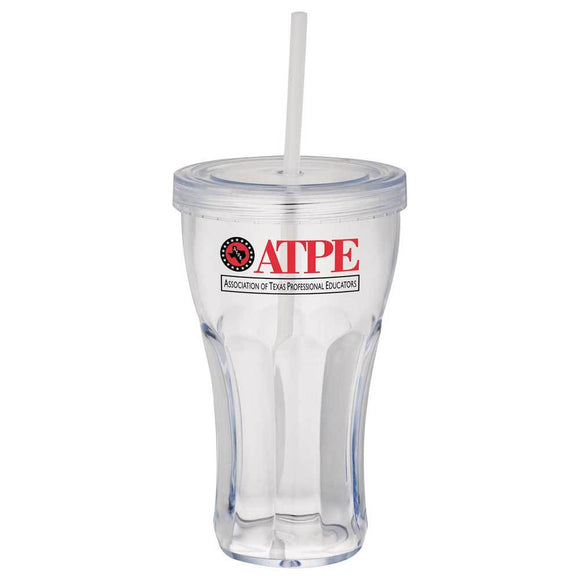 Fountain Soda 16oz Tumbler with Straw