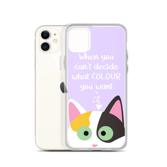 When You Can't Decide iPhone Case (Purple)