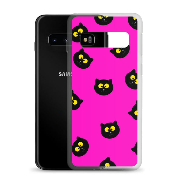 Black Cat Samsung Case (Pink)