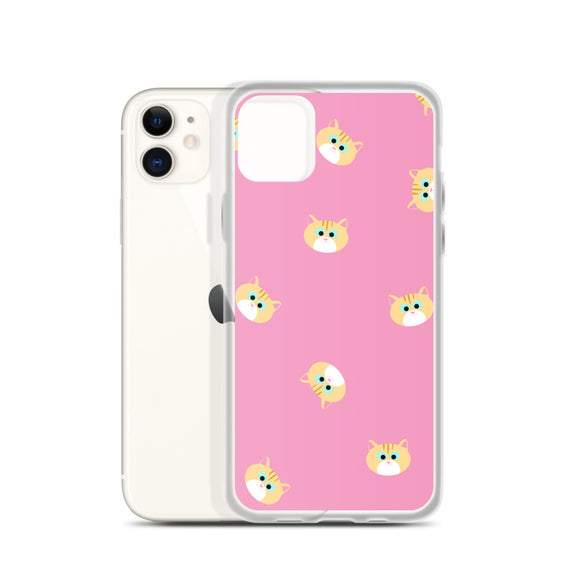 Ginger Cat iPhone Case (Pink)