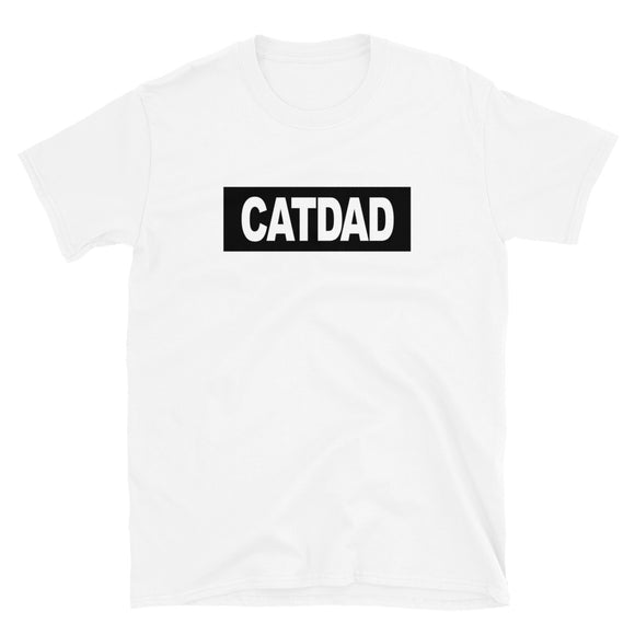 Cat Dad Unisex T-Shirt (White/ Black)