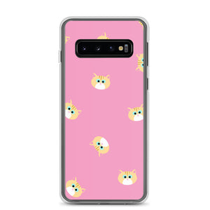 Ginger Cat Samsung Case (Pink)