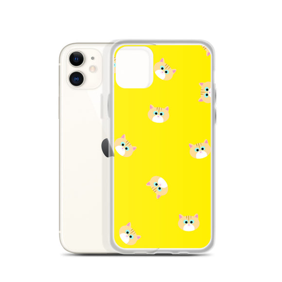 Ginger Cat iPhone Case Yellow