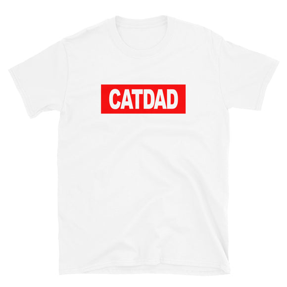 Cat Dad Unisex T-Shirt (Red)