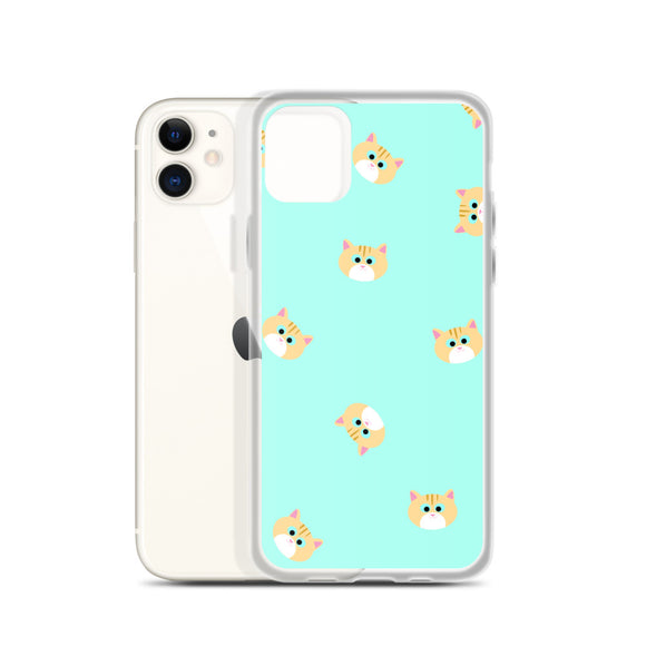 Ginger Cat iPhone Case (Mint)
