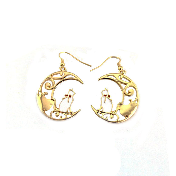 Cat Moon Earrings