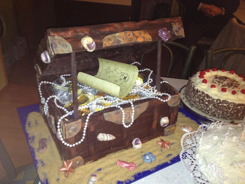50th Birthday Treasure Chest Cake