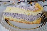 German Poppyseed Cake with Sour Creme Blanket