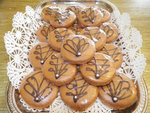 Oma Gisi's Mocha Glazed Butter Cookies with a hint of cinnamon