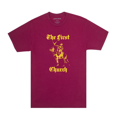 Fucking Awesome - First Church Tee - Berry