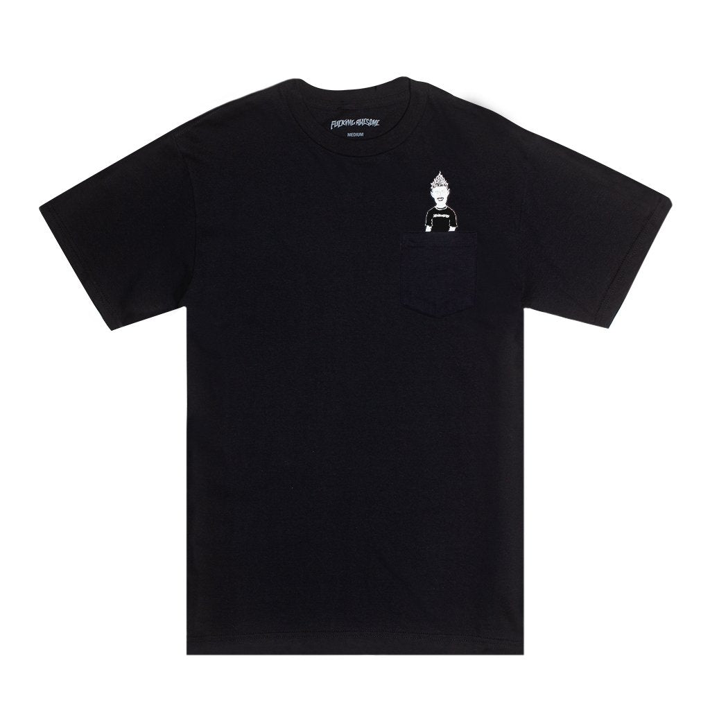 Fucking Awesome - Ash Pocket Tee Black