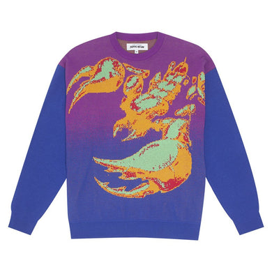 Fucking Awesome - Scorpion Knit Sweater Purple