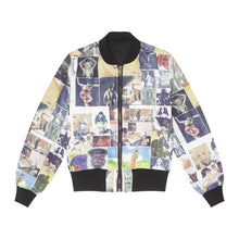 Load image into Gallery viewer, Fucking Awesome - Reversible Nylon Bomber Jet Black/collage Art