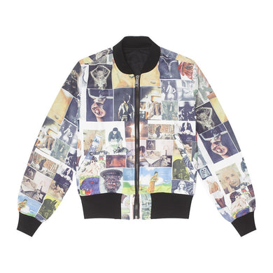 Fucking Awesome - Reversible Nylon Bomber Jet Black/collage Art