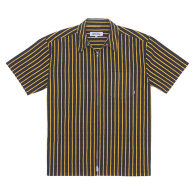 Fucking Awesome - Overspray Stripe Shirt Black/yellow