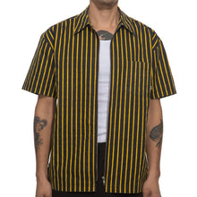 Load image into Gallery viewer, Fucking Awesome - Overspray Stripe Shirt Black/yellow