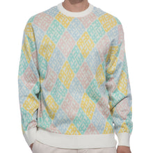Load image into Gallery viewer, Fucking Awesome - Monogram Sweater White/pink/blue/yellow/teal