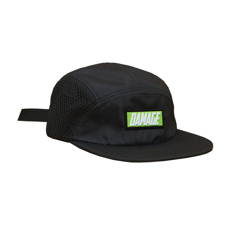 Damage corp. - 5 Panel cap Black