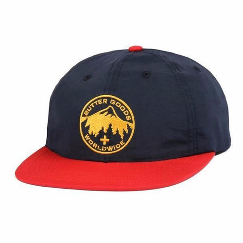 Butter Goods Peak 6 Panel Cap Navy/Red