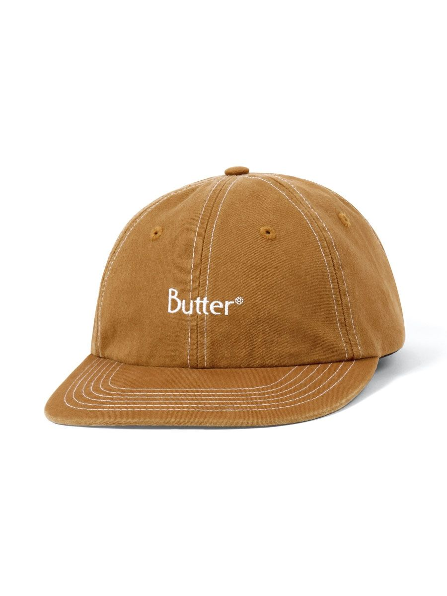 Butter Goods Stitch 6 Panel Cap Brown