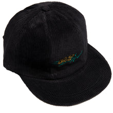 Load image into Gallery viewer, Carpet Co. 7 panels corduroy cap black