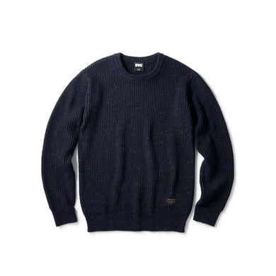 FTC Nep Wool Sweater Navy