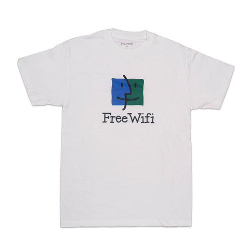 Free Wifi - Face Drawing Tee White