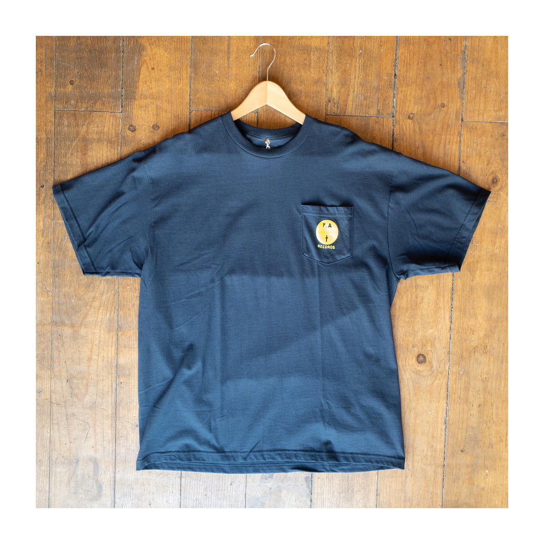 Fucking Awesome - FA Records pocket T shirt Navy Blue