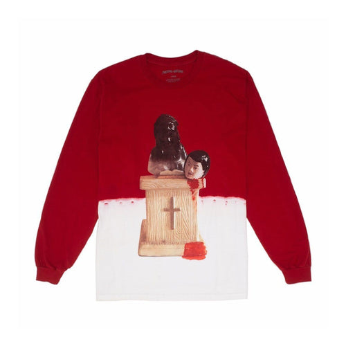 Fucking Awesome Prey Bleach Dip Dyed L/S Tee Scarlet Red