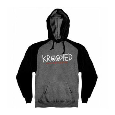 Krooked Eyes Pullover Hoodie Charcoal Heather/Black
