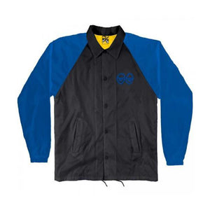 Krooked Eyes Windbreaker Coaches Jacket Black/Royal