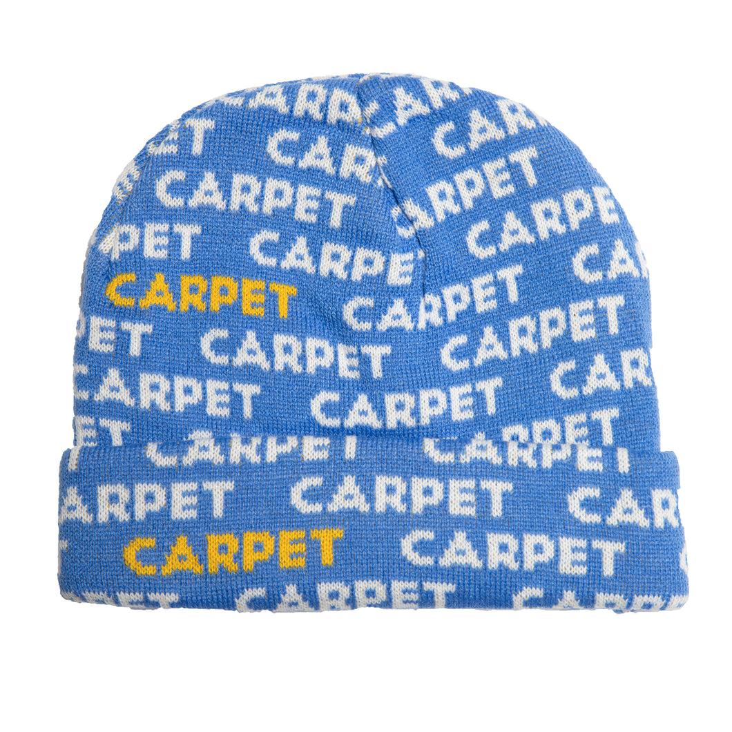 Carpet Co. Repeat logo beanie blue