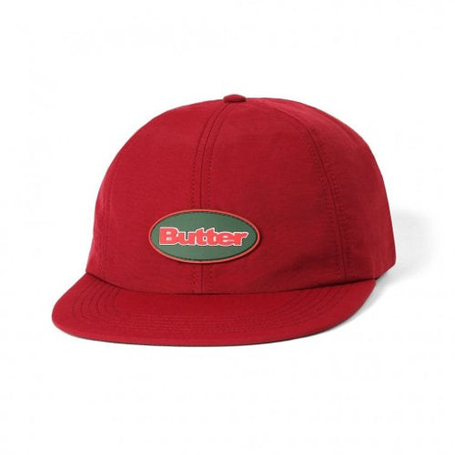 Butter Goods Badge 6 Panel Cap Burgundy