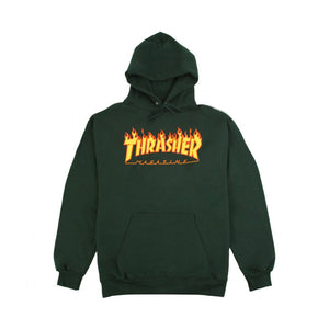 Thrasher - Flame Logo Green