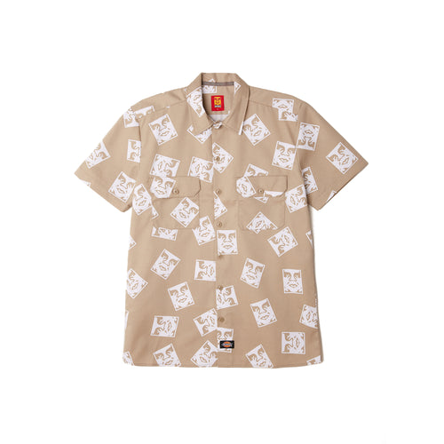 Dickies x Obey - 576 Work Shirt Khaki