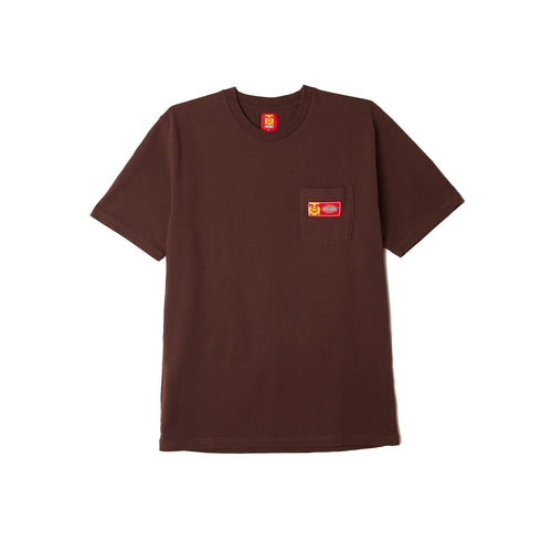 Dickies x Obey - Heavyweight Pocket Tee Chocolate Brown